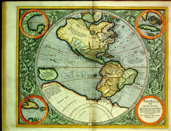 Americas Antique Map Print Old World Map Vintage Map High Quality