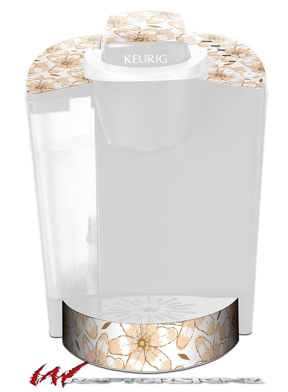 Flowers Pattern 15 Decal Style Vinyl Skin Fits Keurig K40 Elite