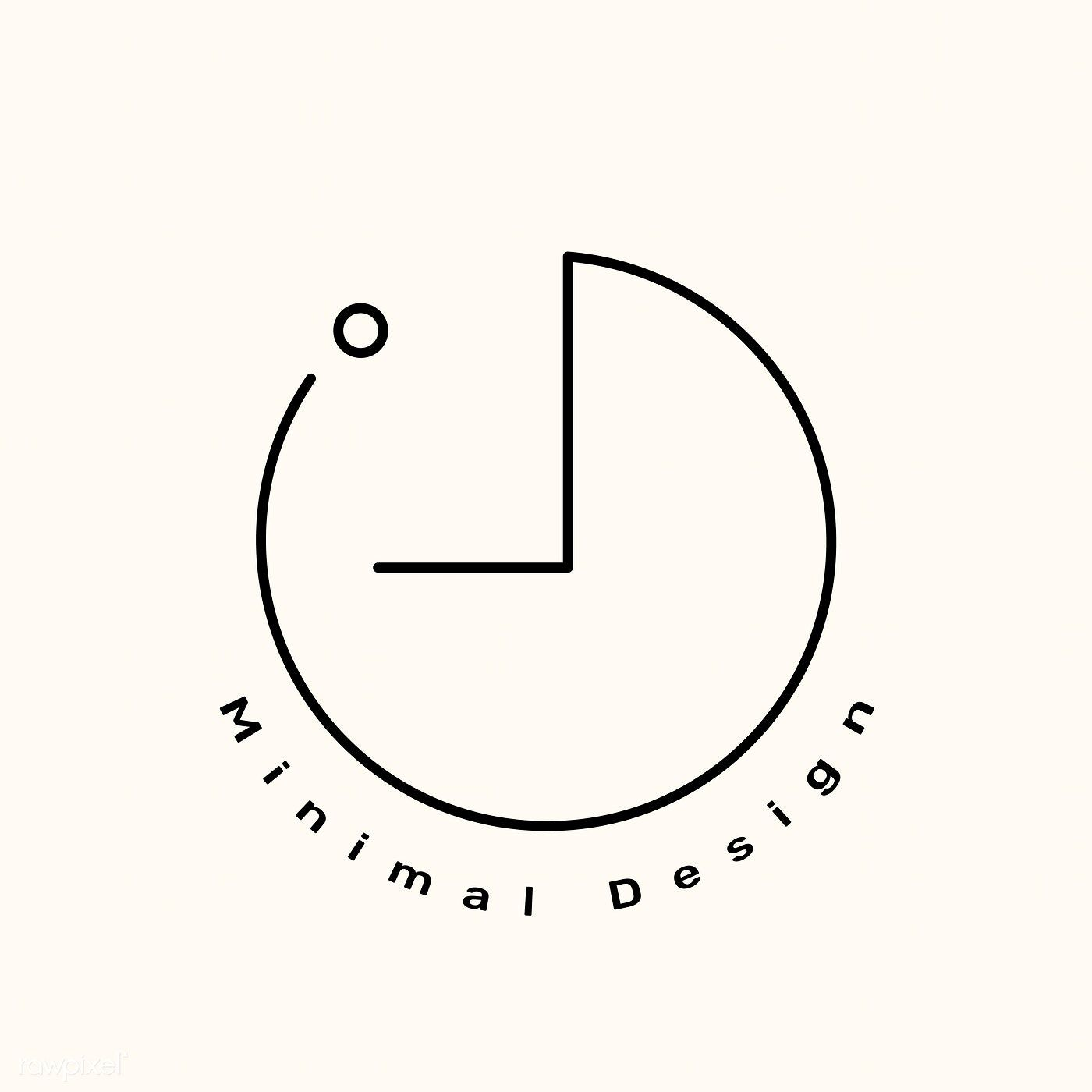 Download free vector of Minimal brand logo on a cr
