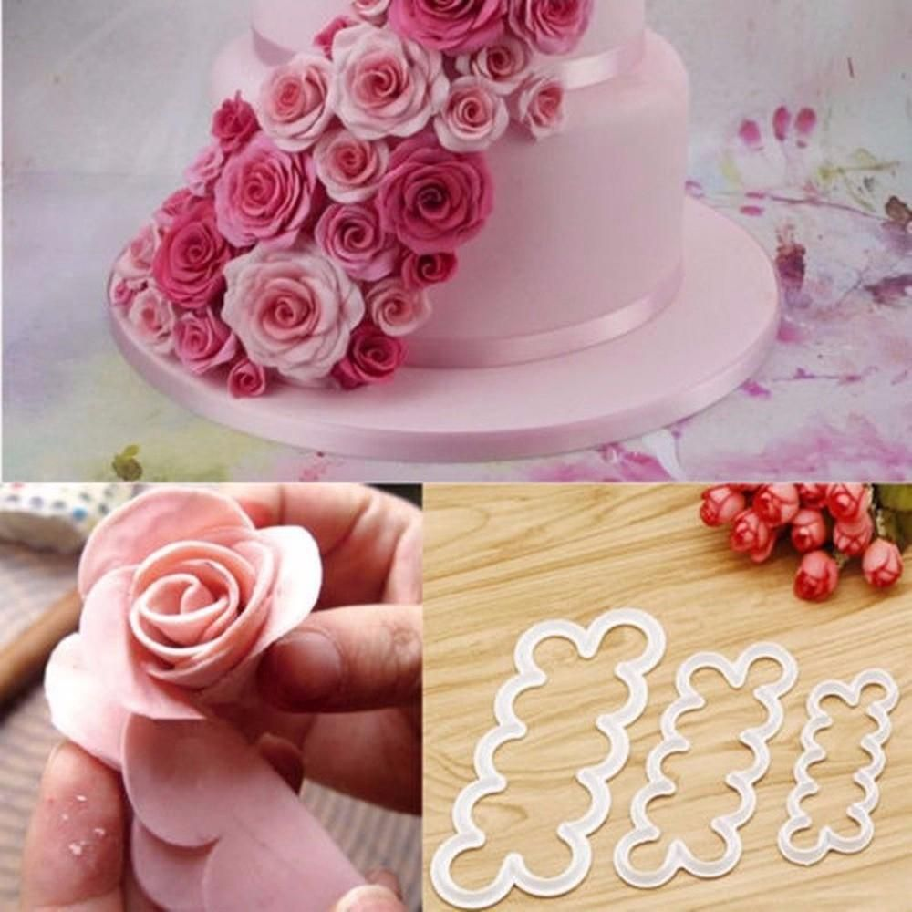 Novelty Rose Leaves Silicone Fondant Mould Cake Decor Sugar Chocolate Mold Cute
