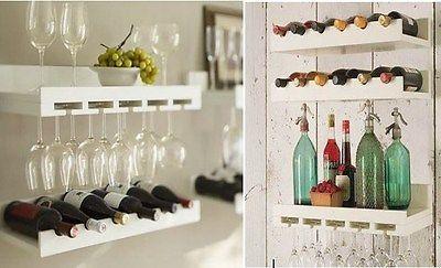 Botellero copero estanterias de pared pareja - Botellero de pared ...