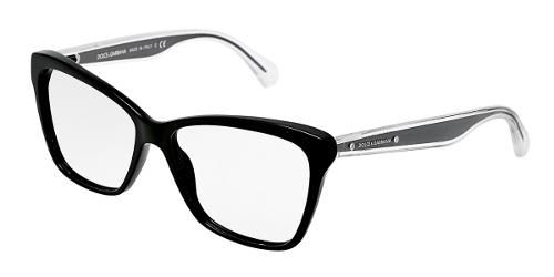 8fd4e126f22 Dolce   Gabbana Eyewear  model 3140 - Women Ophthalmic Collection. Cat-eye  Glasses with Black Frame in Plastic.