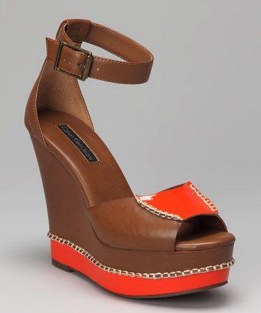 Take Brown Wedge This Klein At Calvin Orange By Bedelia A Look amp; q8Irgq