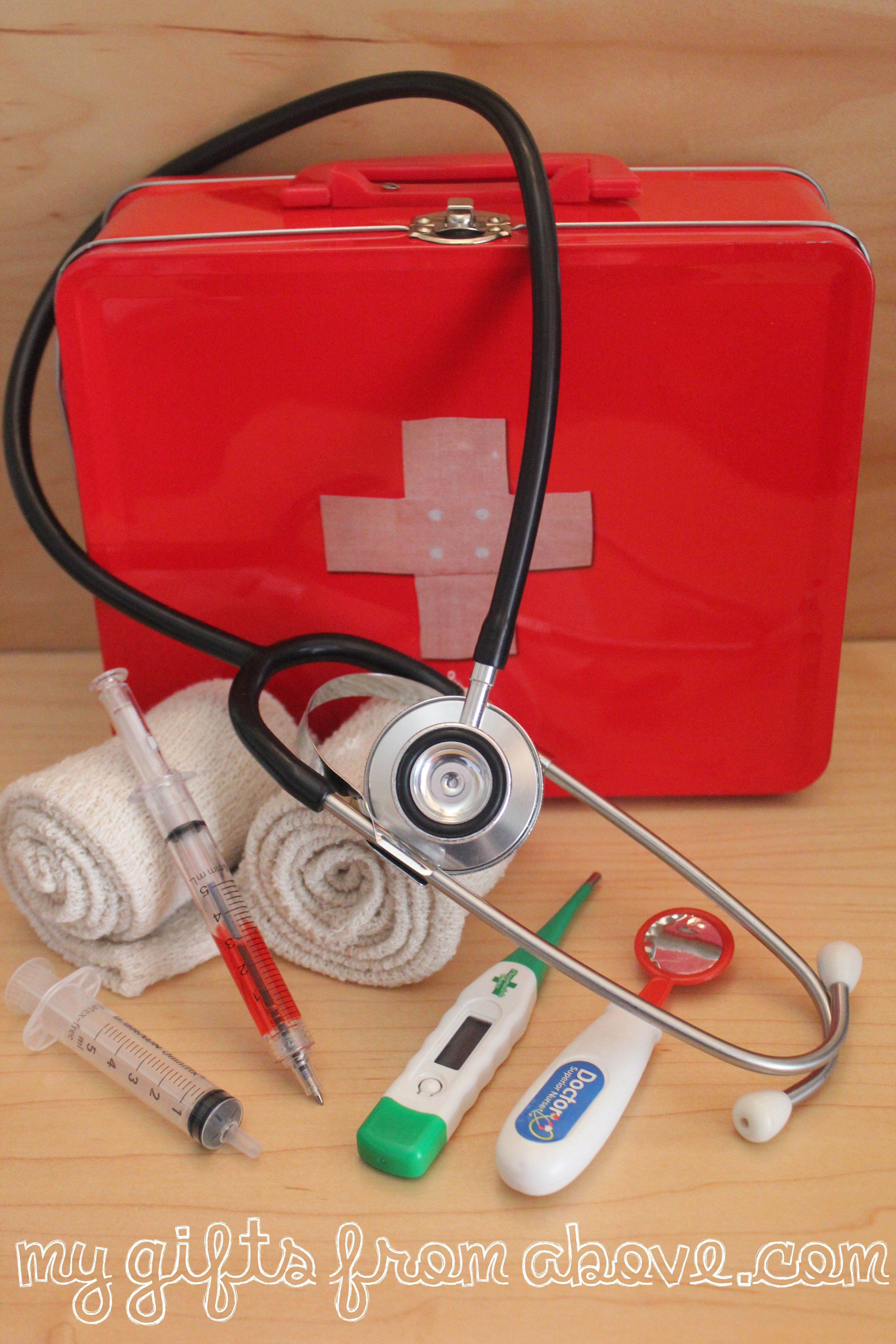Assemble doctorus kit real items play doctor role play