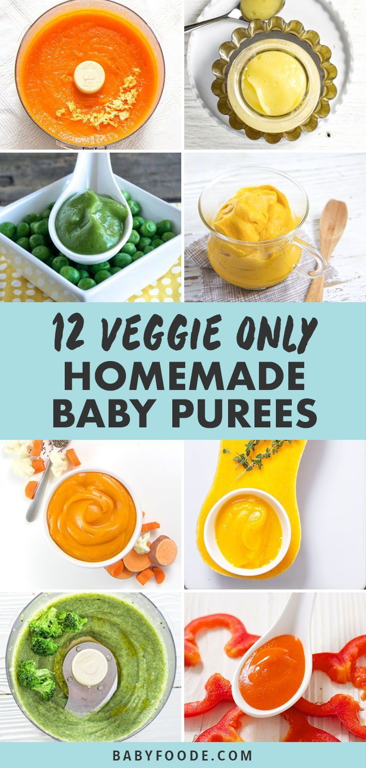 12 Vegetable Only Baby Food Purees (Stages 1