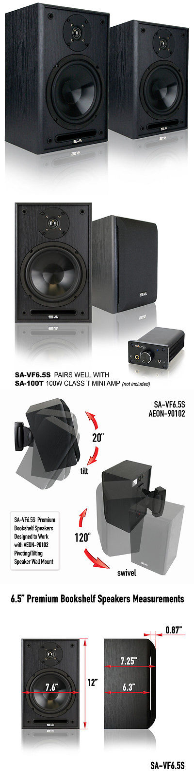 Home Speakers And Subwoofers Sound Appeal 20 System 65 Indoor Premium Bookshelf 1