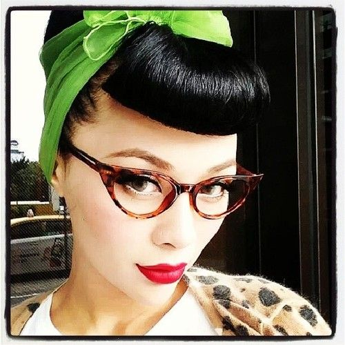 b3623272ea rockabilly pinup cateye glasses -  rockabilly  glasses  cateyeglasses   cateye  fashion  redlipstick  hair  beauty  vintage  retro  1950s  pinup