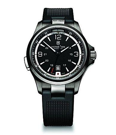 Victorinox Swiss Army Night Vision Black Dial Black Strap Mens Watch #Dillards