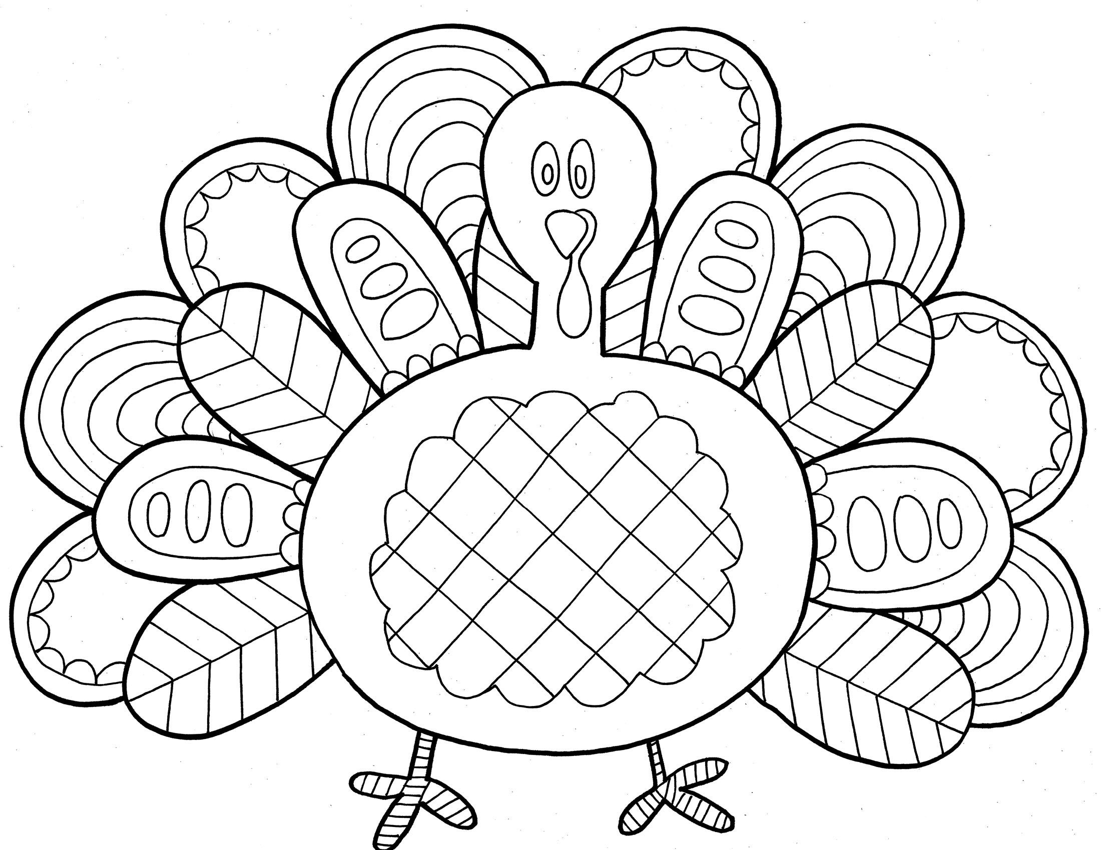 Thanksgiving Turkey Coloring Sheets