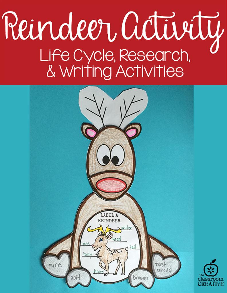 Reindeer Activities for Kindergarten, First Grade, and Second Grade ...