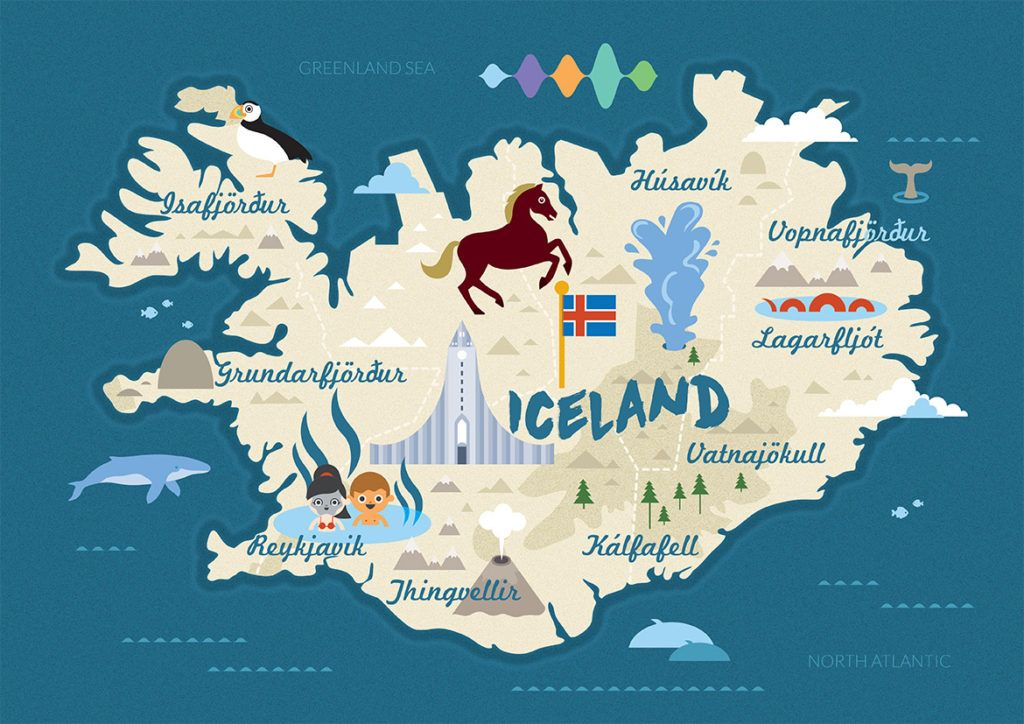 islandia mapa Mapa turístico de Islandia | Places I'll Go | Pinterest | Travel  islandia mapa