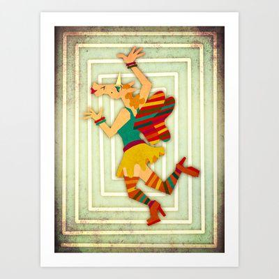 Autumn Rainbow Unicorn Fairy Art Print by That's So Unicorny - $14.99