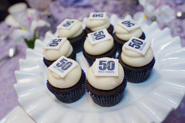 50th reunion cupcakes.