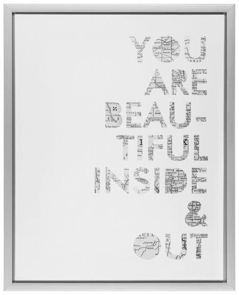 Keilrahmenbild in Silber und Weiß - für ein individuelles Ambiente
