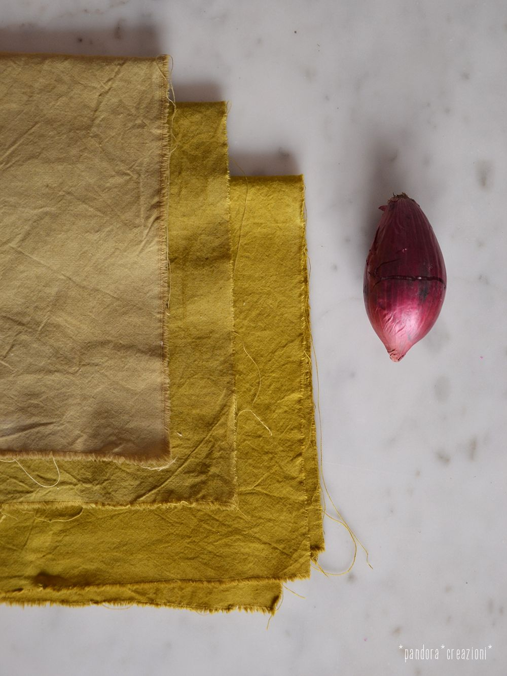 natural dye with red onion * pandora creazioni | madebyme ...