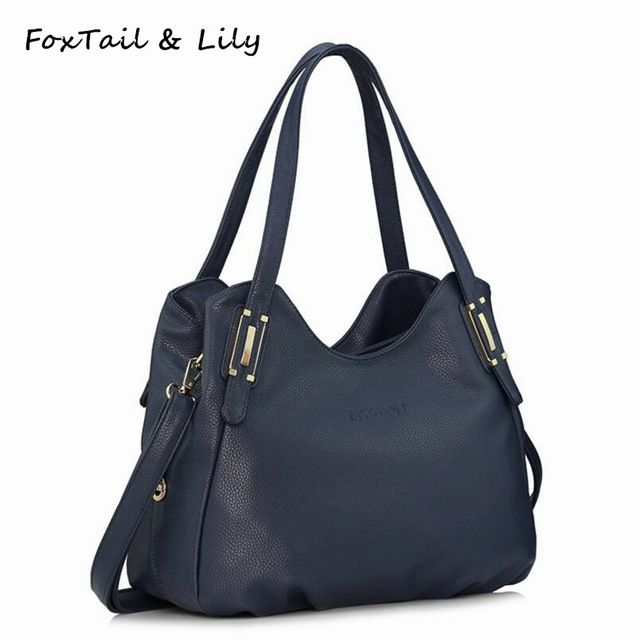 231b77d9a082 FoxTail & Lily Genuine Leather Bag for Women Luxury Brand Designer Real  Leather Handbags Ladies Casual Shoulder Messenger Bags