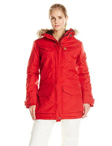 Fjallraven Womens Nuuk Parka Red XXSmall *** More info could be found at the