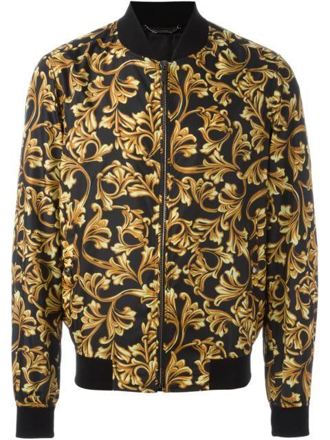 Versace Baroque Print Bomber Jacket Shyro Pinterest Printed