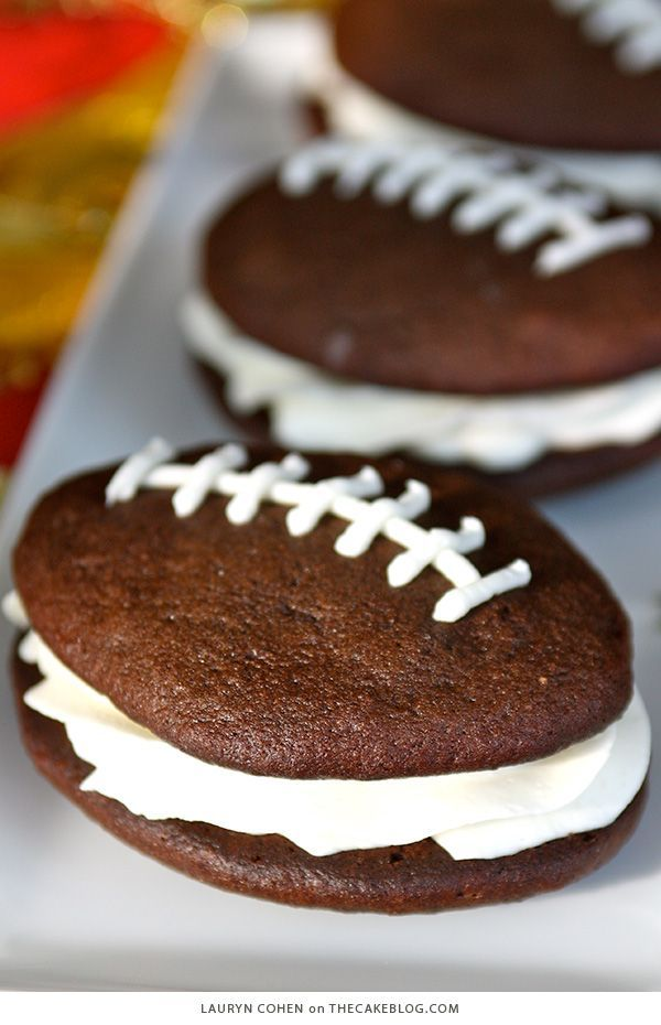 Recipe: Football Whoopie Pies | The Cake Blog