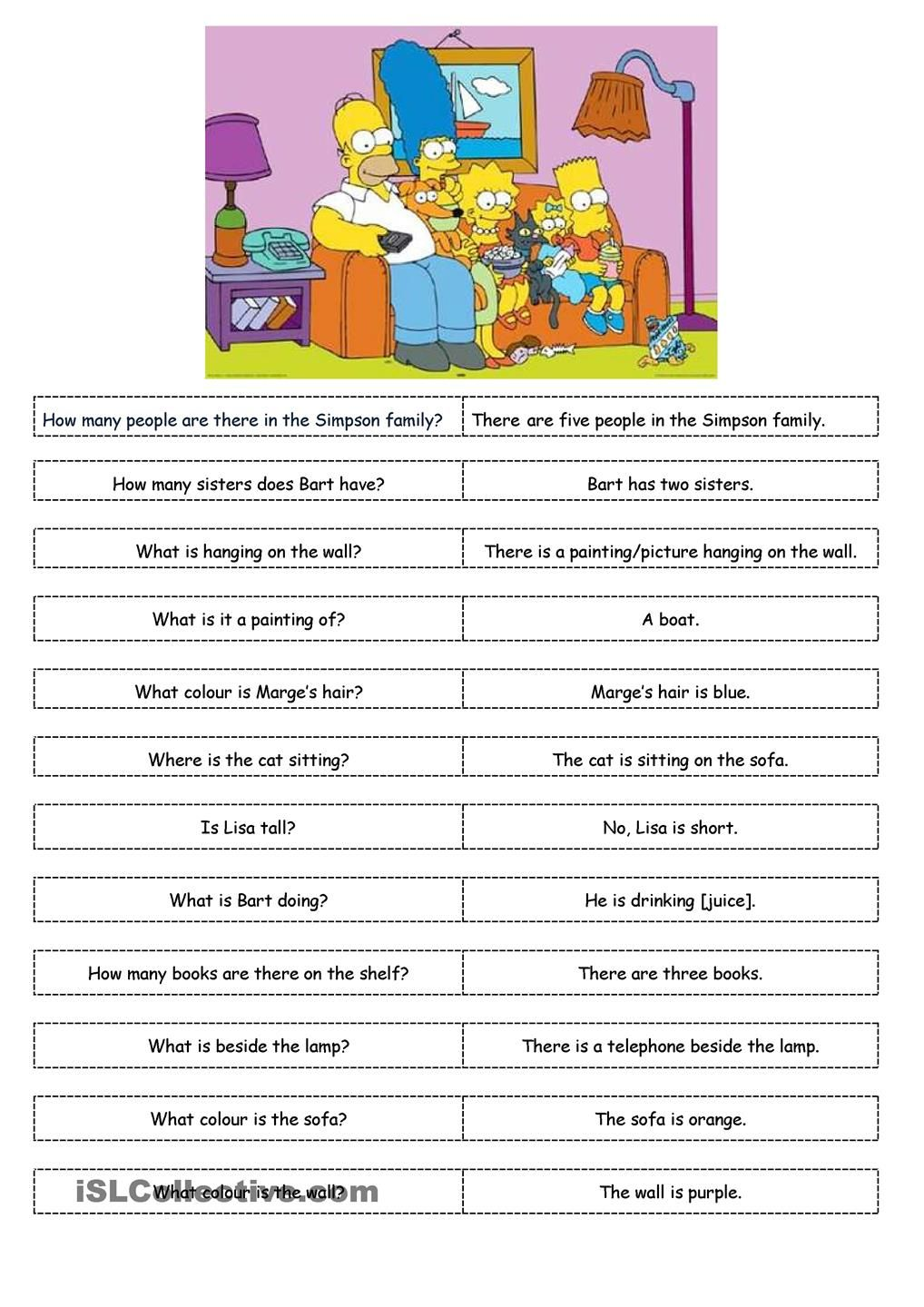 the simpsons worksheets english buscar con google english worksheets pinterest english. Black Bedroom Furniture Sets. Home Design Ideas