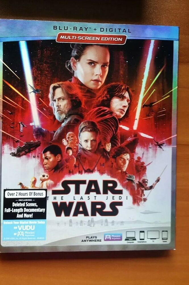 Star Wars: THE LAST JEDI - BR + DIGITAL CODE- with sleeve The Rise