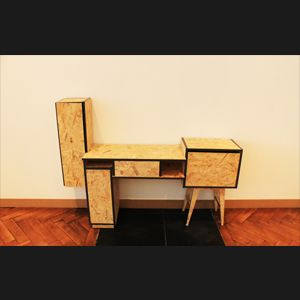 meuble osb design le bureau popov est une imbrication asym trique de quatre rectangles de. Black Bedroom Furniture Sets. Home Design Ideas