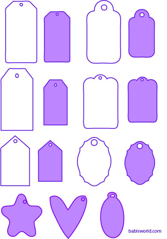 Modelos de tags e divisórias para mini álbuns… | Silhouette Tips ...