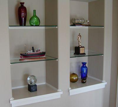 Niche Design Ideas Recessed Shelves Glass Wall Shelves Niche Decor