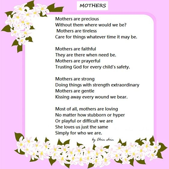 A Poem for Mothers - Happy Mother's Day | Mother poems ...