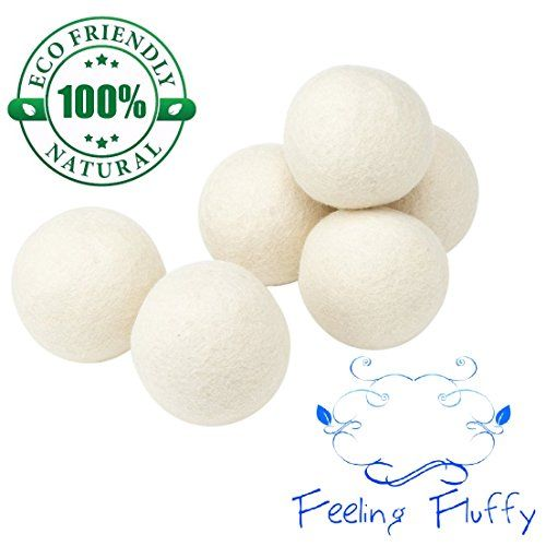 Feeling Fluffy Handmade 100 Organic Premium Xl Wool Dryer Balls