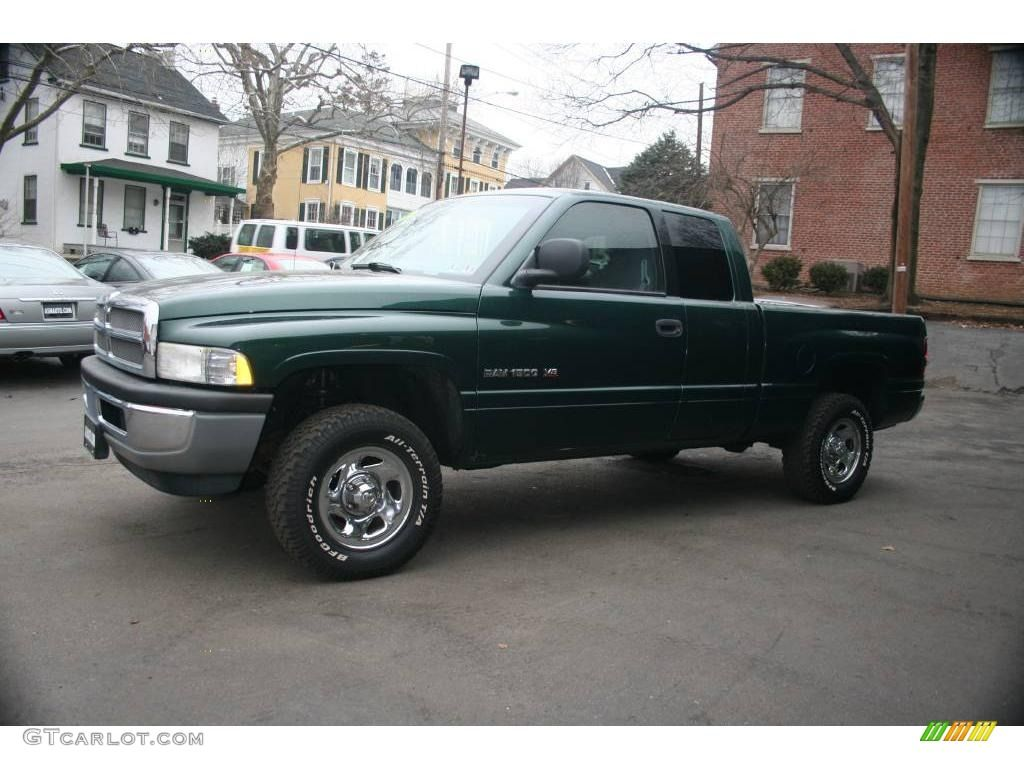 1999 ram 1500 st extended cab 4x4 pg8 forest green pearl mist gray