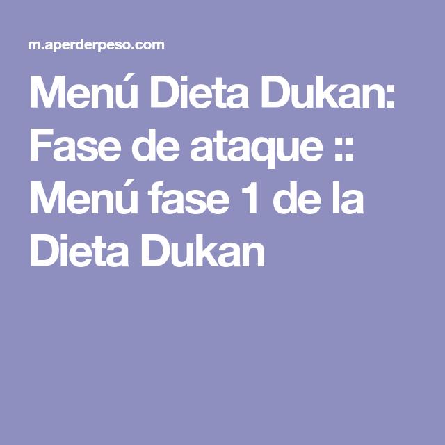 Menu Dieta Dukan Fase De Ataque Menu Fase 1 De La Dieta Dukan