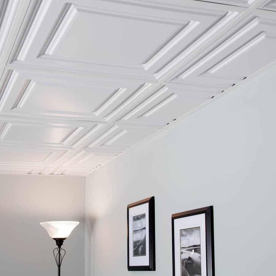 Genesis Ceiling Tile 2x2 Icon Relief In White Basement Flooring Options Ceiling Tiles Basement Flooring