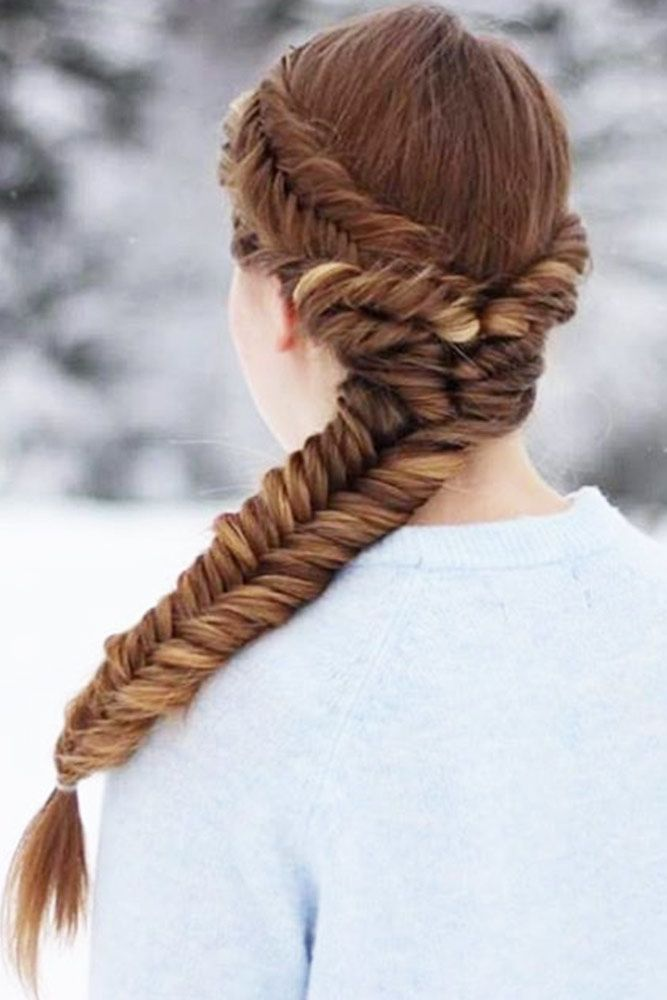 Discover The Easiest Ways Of How To Fishtail Braid | Easy fishtail braid, Braided ponytail ...