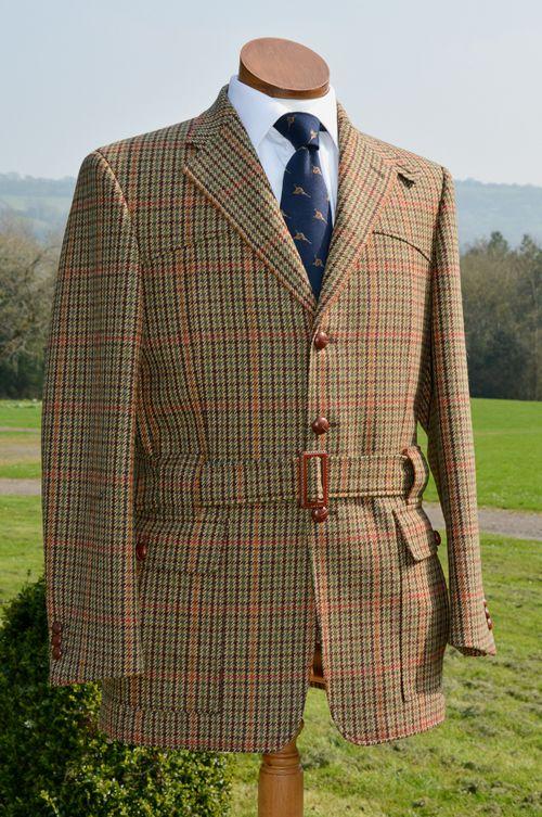 328db3d83ed31 Bookster Tweed Shooting Vest Gilet Monach with Dark Tan Alcantara shoulder  Patch