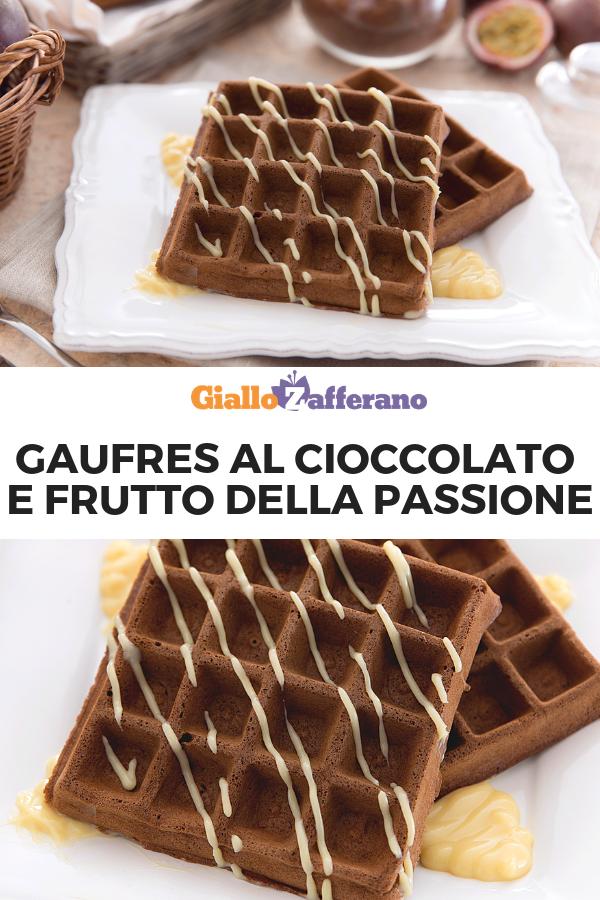 Ricetta Waffle Dolci Giallo Zafferano.Gaufres Al Cioccolato E Frutto Della Passione Ricetta Dolci Da Colazione Dolci Idee Alimentari