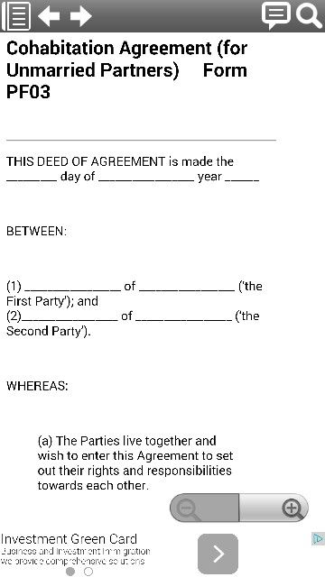 Confidentiality Agreement Legal Form Template From Smartphone
