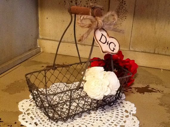 Personalized Rustic Shabby Chic Chicken Wire by ladedadesign, $21.99
