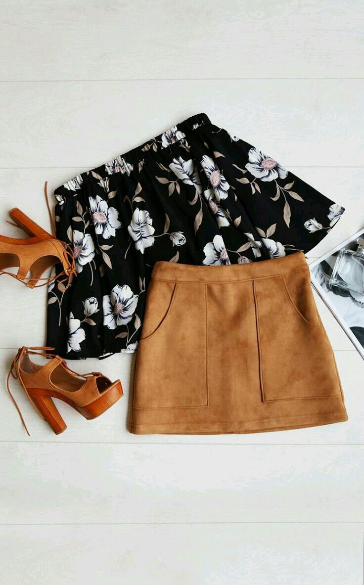 Love a line skirts like these can be matched with a cute patterned