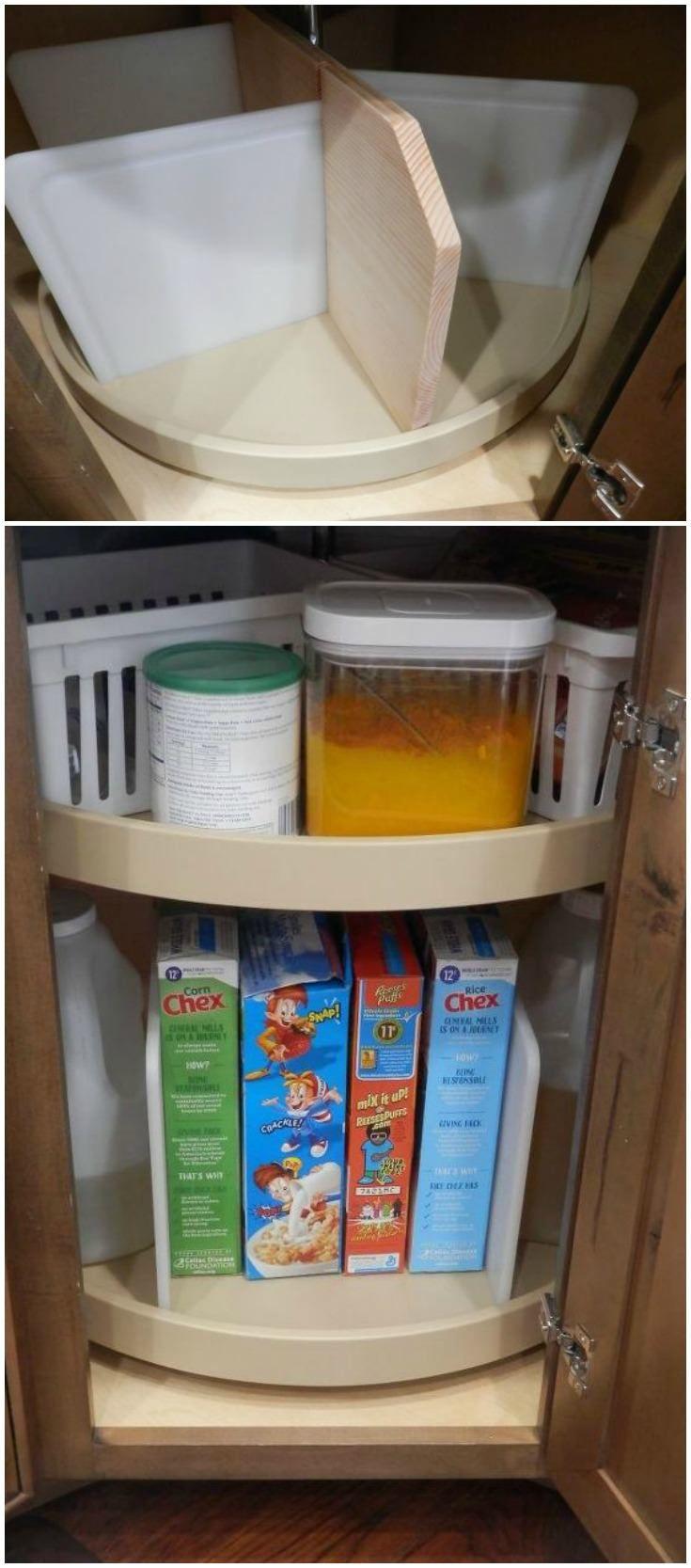 lazy susan re do organize the chaos cheap kitchen makeover diy lazy susan diy kitchen storage on kitchen organization lazy susan id=32586