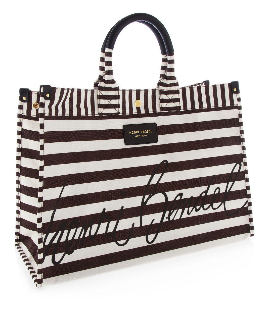 e68a821d1bbe Signature Stripe Canvas Tote, Totes & Tote Bags | Henri Bendel |$88 | ❤
