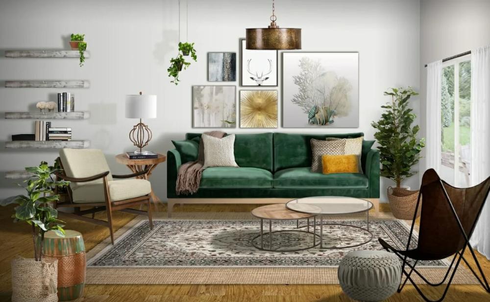 Interior Design Trends 2021 10 Hottest Home Decor Ideas Decorilla Online Interior Design In 2021 Green Interior Design Furniture Design Living Room Interior Design