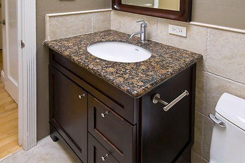 Capuccino Finish Elegant Bathroom Sink Cabinet Design One