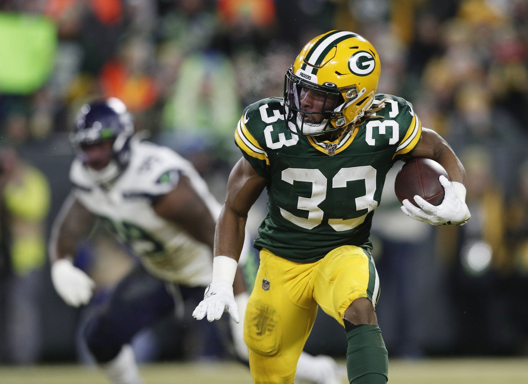 2020 Could Be Aaron Jones Final Year In Green Bay National Football League News In 2020 Nfl News National Football League Football League