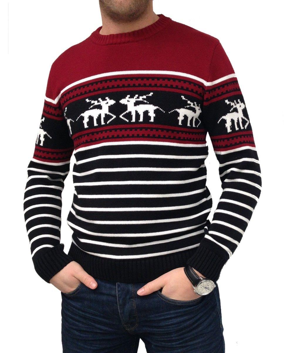 Kersttrui Met Muziek.Rendier Kersttrui Rood Lelijke Kersttrui Christmas Sweaters