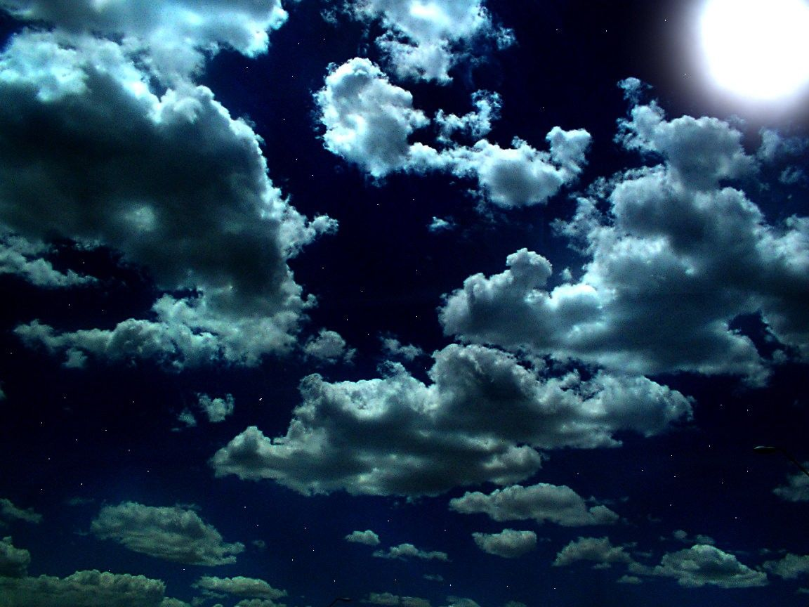 BEAUTIFUL NIGHT SKY Stars Clouds Moon Desktop For Android