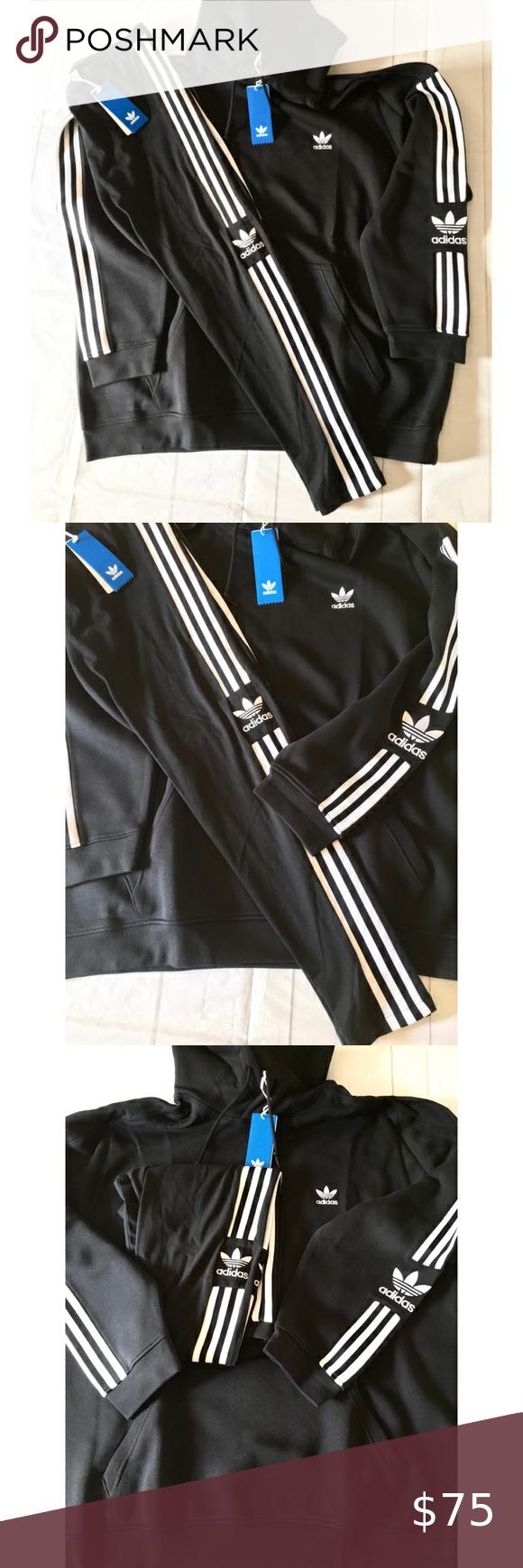 New Adidas Original 3 Stripe Hoodie Sweatshirt Striped Hoodie Sweatshirts Hoodie Clothes Design [ 1740 x 580 Pixel ]