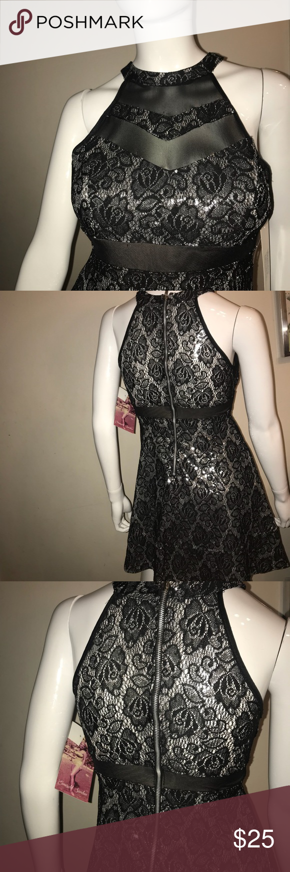 Beautiful dress nwt high low emeralds and fe