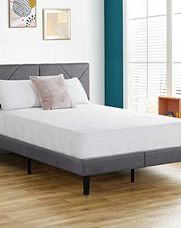 Olee Sleep 10 Inch Omega Hybrid Gel, Queen Bed Frame 10 Inches High