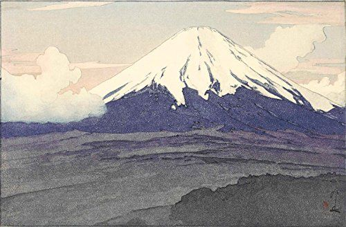 "Japanese Art Print ""Mt. Fuji from Yamanaka"" by Yoshida Hiroshi. Shin Hanga and Art Reproductions http://www.amazon.com/dp/B00XZWHVAC/ref=cm_sw_r_pi_dp_ivUuwb0JPV9B3"